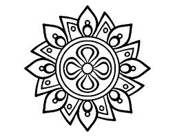 Disegno Di Mandala Semplice Fiore Da Colorare Acolorecom