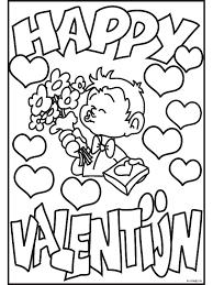 Kleurplaat Happy Valentijn Kleurplatennl