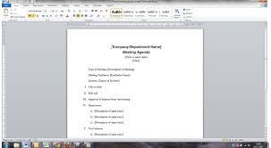 Microsoft Office Agenda Template Improve The Way You Create And Use Meeting Papers In Word