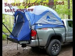 Napier Sportz truck bed tent review on a 2017 Tacoma long bed - YouTube