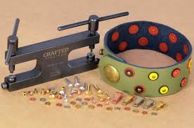 semi tubular rivets and crafted findings riveting system