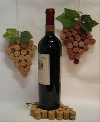 2 wine cork bottle holder