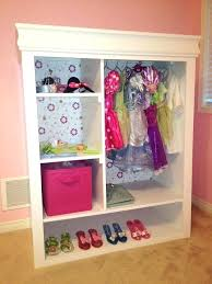 dress up clothes rack wardrobes dress up closet for a little girls bedroom convert an old dress up