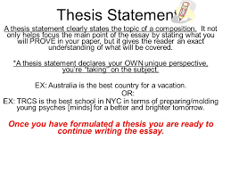 thesis statement for setting goals college admissions advisor resume phd thesis writing in first person