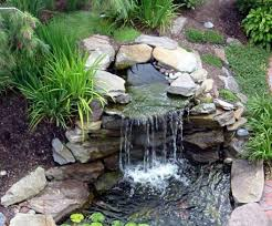 Stones Small Garden Waterfalls Interesting Makeovers For Home