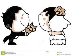 Cute Wedding Couple Stock Images Image 6105154