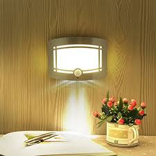 led wall lamp wireless stick anywhere battery powered motion sensor wall indoor light home bedroom decoration battery operated home lighting