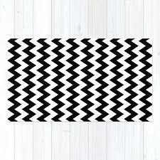 black and white chevron rug minimalist area project 62