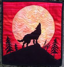 Easy applique pattern wolf   Wolf, Moon and Easy & Applique quilts Adamdwight.com