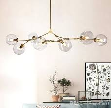 glass ball chandelier 1 3 5 7 heads branching drop hanging light modern bottle chandeliers for