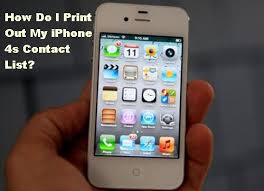 How Do I Print Out My Iphone 4s Contact List