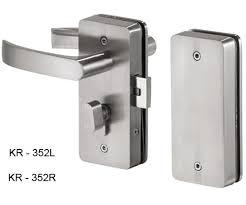 krome glass door locks