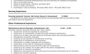 Cna Duties For Resume Templates Franklinfire Co Job Description