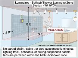 what are the requirements for installing fixtures in a bathroom bathroom track lighting