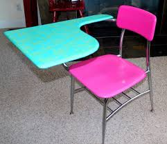hot pink turquoise refurbished old school by laurasoriginals2 a desk like this would have made