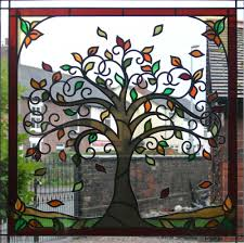 tree of life stained glass window