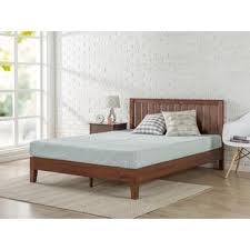 wood platform bed frame full. Interesting Wood Priage Deluxe Antique Espresso Wood Platform Bed With Headboard To Frame Full O