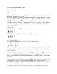 Gallery Of Sample Maternity Leave Letters