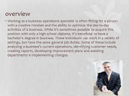 business operations specialist gary marsicek business operations specialist ppt download