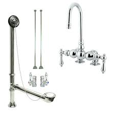 clawfoot bathtub faucet chrome deck mount bathtub faucet package supply lines drain clawfoot bathtub faucet parts