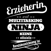 Erzieherin Kindergärtnerin Lustiger Spruch Damen Frauen Schwangerschafts T Shirt Schwarz