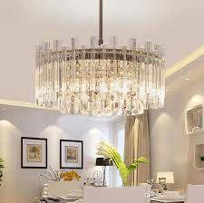 modern luxury crystal chandeliers round crystal pendant light fixtures glass ceiling light for living room bedroom decor beaded chandelier wagon wheel