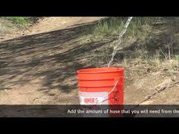determining gallons per minute for novacool garden hose adapted sprayer