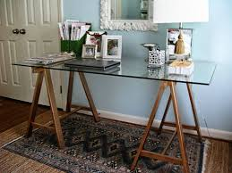 If you can afford the hefty price tag of Williams Sonoma Home's metallic  Mason Glass Top Desk, more power to you. As for the rest of us who don't  have ...