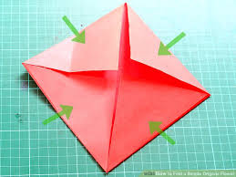 Origami Flower Paper How To Fold A Simple Origami Flower 12 Steps With Pictures