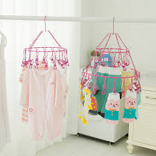 Baby Coat Rack Multi hanging clothes drying racks clip child baby socks coat hanger 9