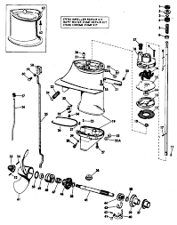 johnson water pump drive shaft exploded detail taken from 1972 omc service manual