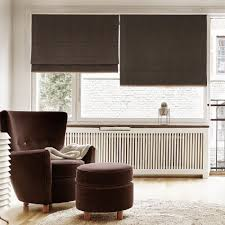 fabric window blinds. Simple Blinds Plain Color Washable Linen Blinds Fabric Roman Shades Window Blinds   Dark Brown And