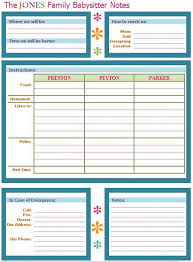 babysitter information sheet printable babysitter buddy a babysitter note sheet to leave on the fridge