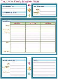 babysitter information sheet printable babysitter buddy a babysitter note sheet to leave on the fridge