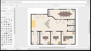 free work office floor plan template