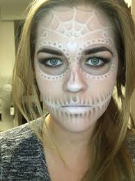 a subtle sugar skull done with off the shelf makeup looks