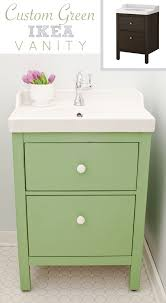green ikea custom bathroom vanity