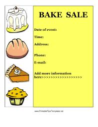 bake sale flyer templates printable bake sale signs download them or print