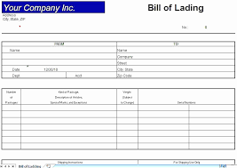 Blank Bill Of Lading Forms Cool Straight Bill Of Lading Template Fresh Printable Sample Blank Bill