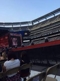 Metlife Seating Chart One Direction Metlife Stadium Section 9 Row 9 Seat 41 One Direction