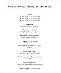 Sample Wedding Program Template 9 Documents In Pdf