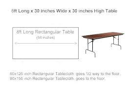Rectangle Tablecloth Chart Standard Tablecloth Sizes Rectangular Mmfurniture Co