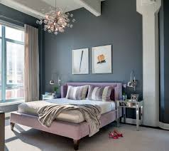 Innovation Transitional Bedroom Design Grey Walls Side Tables Bedding And