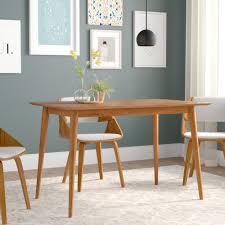 Wood Modern Dining Table Design Kaylen Mid Century Modern Wood Dining Table