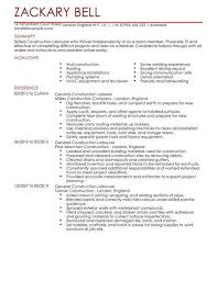 Construction Resume Examples Enchanting Construction Resume Examples Inspirational Labourer Resume Examples