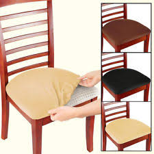 2 4 6 pcs removable elastic stretch slipcovers dining spandex chair seat cover
