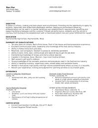 Simple Grill Cook Resume