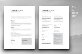 Resume And Cover Letter Template Resume Templates Creative Market