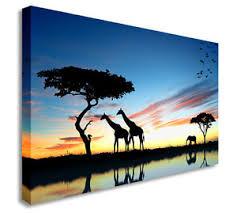 safari sunset elephant giraffe canvas wall art picture canvas art cheap print on safari canvas wall art with safari sunset elephant giraffe canvas wall art picture canvas art