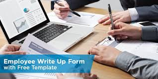 Employee Write Up Form With Free Template